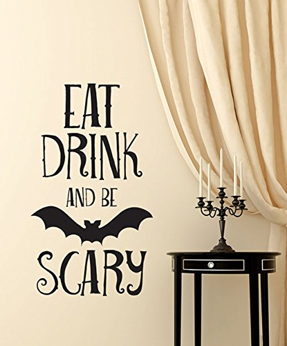 Wandaufkleber Zitate Halloween Decor Kürbis Hexe Fledermaus Wandaufkleber Vinly Decals Home Decorstion 30 * 55 Cm. -