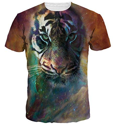 COUSIN CANAL Uomo 3D Animal Print modello T-shirt unisex 271-S/M