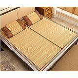 Liangxi Tapis de lit Tapis de sol pliant Coussin de couchage doré matelas en trois pièces Macedry Tapis pliable ( taille : 150*195cm )