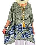 Photo de Charleselie94® - Tunique Grande Taille Longue été Kaki Regine Vert par Charleselie 94 Since 1994 Prêt à porter