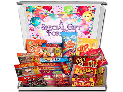 50 piece Retro Sweets Large Decorated Gift Hamper Selection