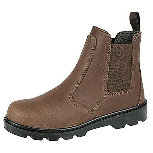 Marrom De Homens Grafters Sapatos Couro De Protetora Botas Segurança SYw7Fq