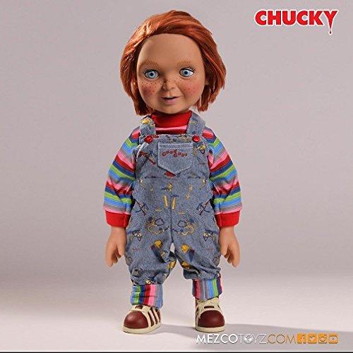 Chucky - Muñeco happy face con voz good guy, 38 cm (Mezco Toyz MEZMEZ78004)