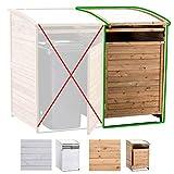 CLP Mülltonnenbox-Erweiterung aus Holz I Mülltonnenbox mit aufklappbarem Dach I Mülltonnen-Unterstand mit verschließbarer Tür Natura