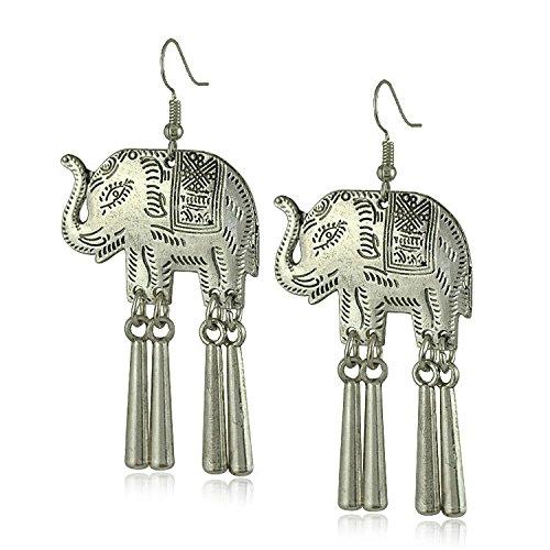e1638-europe-et-aux-etats-unis-back-to-the-national-wind-elephant-tassel-boucles-doreilles-thailande