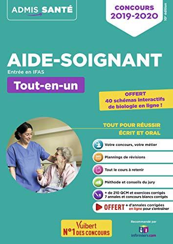 Concours Aide-soignant - Entrée en IFAS - Tout-en-un - Concours 2019-2020 - Avec 40 schémas interactifs par Collectif