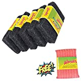#6: Wonder Super Tough Scrub Pad Heavy Duty Large (Pack of 5) and Cleaner Mesh Worth Rs.42 (Pack of 1) for Free Super Saver Pack