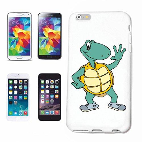 Handyhülle Samsung Galaxy S8+ Plus Schildkröte als Läufer Cartoon Spass Fun Kult Film Serie Cartoon Spass Fun Kult Fil Hardcase Schutzhülle Handycover Smart Cover für Samsung Galaxy S8+ Plus in Weiß
