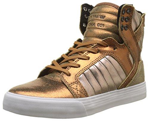 Supra Damen Skytop Sneaker, Gold (Metallic Pewter), 36 EU