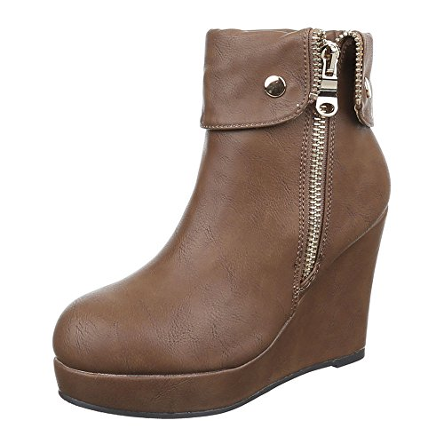 Calcanhar Profundas Femininos Cunha Zipper Marrom Cunha Planalto Sapatos Ankle Boots Cunha Cunha Letten Calcanhar wXPxdqWTg