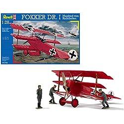 Revell- Dr.I Maqueta Fokker DR. I Manfred Von Richthofen, Kit de Modelo, Escala 1:28 (4744) (04744)