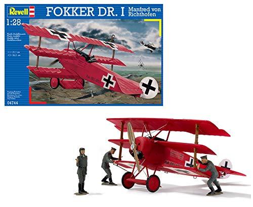 Revell Dr.I Maqueta Fokker DR. I Manfred Von Richthofen, Kit de Modelo, Escala 1:28 (4744) (04744), Multicolor