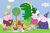 Trefl 14157 - Maxi Puzzle, Peppa Pig, Fest, 24 Teile