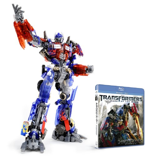 Transformers Dark of the moon [Blu-ray + DVD] with Optimus Prime Dual Model Kit - Scanning Clear Crystal ver. Amazon Japan Exclusive -