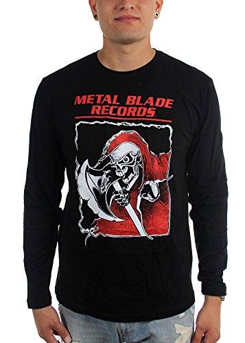 Metal Blade Records da uomo Old-School Reaper-Maglietta a maniche lunghe nero Large