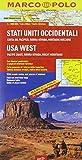 Stati Uniti occidentali. Costa del Pacifico, Sierra Nevada, Montagne Rocciose 1:2.000.000. Ediz. multilingue