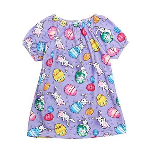 Lucky Mall Ostern! Kleinkind Baby Cartoon Ei Kaninchen drucken Bluse, Jungen mädchen niedlich Tops Baumwolle ()