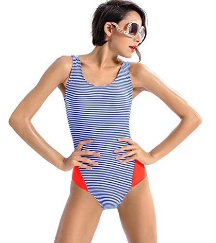 ZOYOL-YT Triangle Bikini One-Piece Bademode Sport Fitness Beach Spa Badeanzug Square 7 inch