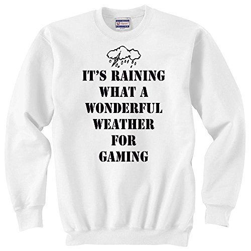 Wonderful weather for gaming stormy cloud styled Unisex Sweater XX-Large