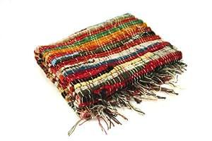 Casa Viva - Tapis RAINBOW Coton - Couleur : Multicolore - Dimension : 60x9 cm