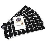 Adsamm® | 200 x Filzgleiter | 25x25 mm | Schwarz | quadratisch | 3.5 mm starke selbstklebende Filz-Möbelgleiter in Top-Qualität
