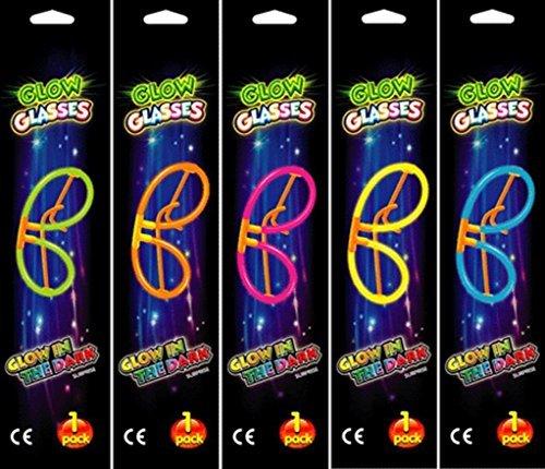 10 Glow in the Dark Glow Glasses Sets, Glow Sticks Glosticks Glowsticks