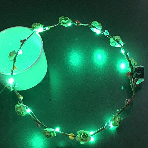 - Blumen-stirnband-licht (Cido LED-Kranz Blumen-Stirnband Zubehör Krone Blumengirlande Hochzeit Braut)
