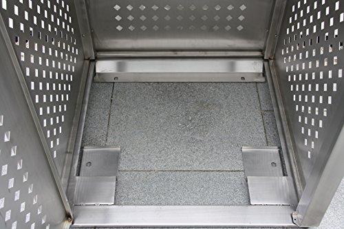 Mülltonnenbox Edelstahl für 2 Mülltonnen (240 l) - 6