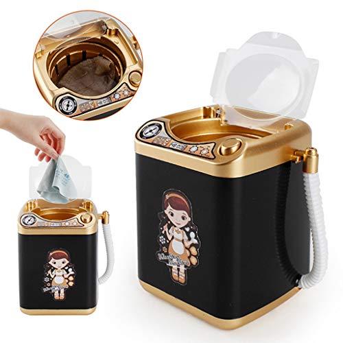 Pinselreiniger Elektrisch Pinsel Reinigung Make Up Pinsel Reiniger und Trockner Set 360° Drehbar mit 8 Gummiringe und Pinsel Reinigungsmatte Kosmetikpinsel Reinigungsgerät (Black) -