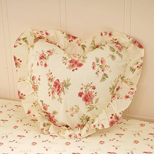 uus Coussin de canapé à fleurs blanches Crative Design Style romantique Housse amovible avec un bon coussin en coton PP Appui de dossier ( Couleur : B )