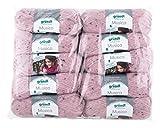 Gründl Musica, Vorteilspackung 10 Knäuel à 50 g Handstrickgarn, 81% Polyacryl, 15% Polyamid, 4% Viskose, rosa, 42 x 32 x 6 cm