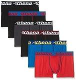 Athena Jungen Badehose Choc, 6er Pack, Mehrfarbig (Noir/Noir/Noir/Pervenche/Coquelicot/Anthracite), 14 Jahre