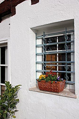 GAH-Alberts 563653 Fenstergitter Secorino Style – ausziehbar, galvanisch blau verzinkt, 600 x 700-1050 mm - 6