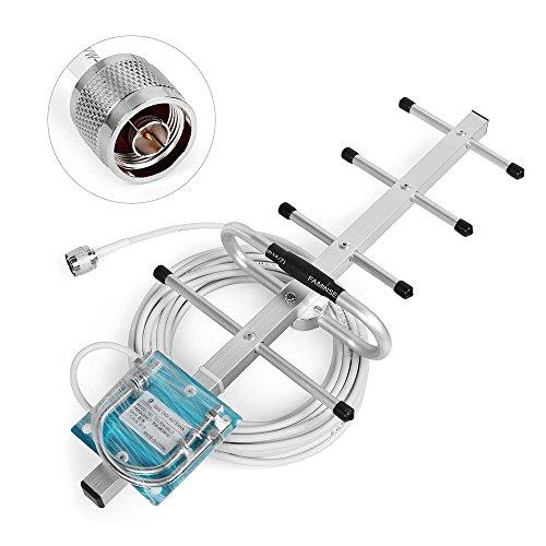 Phonetone die-Antenne Signal 2g 3g 8dBi Yagi Außen Antenne mit 10m RG58Kabel n-mâle Anschluss für Signal-Verstärker Handy