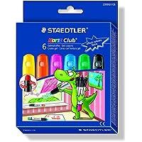 Staedtler Noris Club 2390G1 C6 Gelmalstifte, Effekt-Farben, perfekt für kleine Kinderhände, superweich und farbintensiv, auch ideal für Fensterglas, 6 Stück