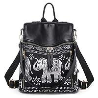 liaobeiotry Fashion Shoulder Bag Women Backpack Elephant-Print Travel Rucksack Hand Bag Girls Daypack Backpacks