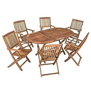 estexo akazienholz sitzgruppe modell timber fur 6 personen gartenmobel set aus holz klappbar
