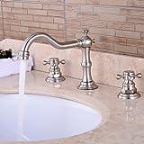 ZLL Valve en céramique contemporaine deux gère trois trous pour Chrome robinet de la baignoire / lavabo , 58 x 8 cm