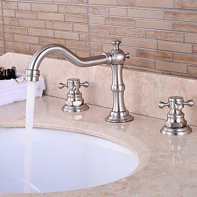 KYDJ ® moderne Keramik-Ventil zwei Griffe drei Löcher für Chrom Badewannenhahn / Waschbecken im Badezimmer , 58 x 8 (Land Badezimmer-hahn-)