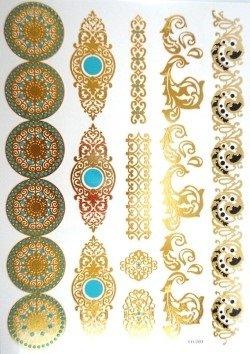 tatouages temporaires tatouages éphemères noir vert et doré PROMO TATOUAGES (si vous désirez achetez plusieurs planches : 2 achetées au choix = 2 gratuites en plus au choix. 3 achetées au choix = 3 gratuites en plus au choix. 4 achetés au choix = 4 gratuites en plus au choix. 5 achetés au choix = 5 gratuites en plus au choix). TATOUAGES METALLIQUES TEMPORAIRES DOREE ET ARGENTEE NON TOXIQUE. Waterproof.