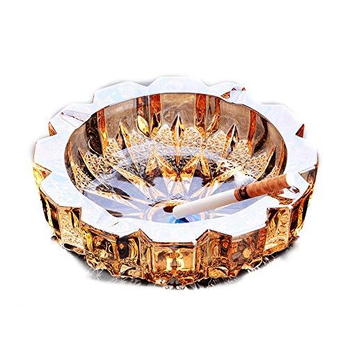 Cristal de Lujo Personalidad Creativa Tendencia de la Moda Multifuncional Dormitorio Lindo Salón Cenicero de Vidrio Europeo Transparente Oro Transparente