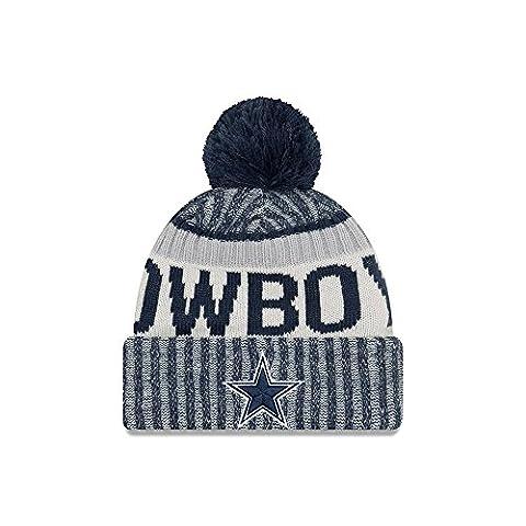 New Era NFL DALLAS COWBOYS Authentic 2017 Sideline Bobble Knit