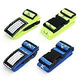 Swify 4 Stück Koffergurt Gepäckgurt Kofferbänder der Koffer