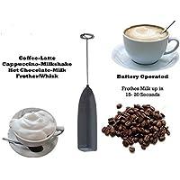 Latte frother-stainless elettrico in acciaio Handheld Mini caffellatte Cioccolata Calda Drink Mixer Frusta rotazione montata Creamer Sbattitore Espresso machine Black