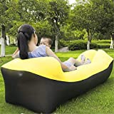 Running cheetah Camping Mat Sofa Lazy Air Inflatable Beach Sofa Bed Lounge Lazy Bag Mattress Bed Sleeping Air Sofa Bed Chair 240 * 70cm