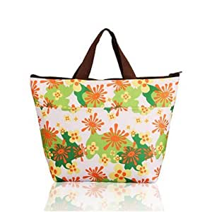 Pixnor Portable Sunflowers Pattern Lunchbox Bag Lunch Tote Insulated Cooler Bag Carry Bag for Travel / Picnic One Direction Vertical Lunch Bag
