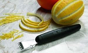 Canneleur-zesteur professionnel. Canneleur ambidextre. L 150 mm.