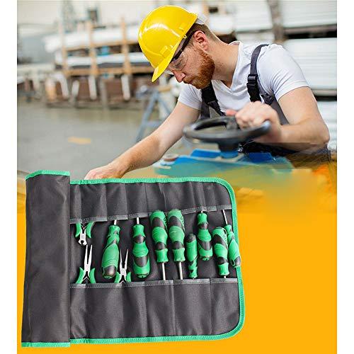 LYHD Oxford Stoff Werkzeug Rollen Beutel zum Schraubendreher Toolkit zum Speichern Mini Zange Elektriker Arbeitstasche Ohne Werkzeug