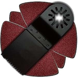 zfe 34mm multitool tauchsageblatt 8tlg schleifpapier fur worx rockwell fein bosch ryobi dremel. Black Bedroom Furniture Sets. Home Design Ideas