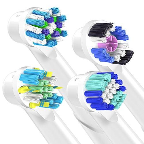 Recambios Cepillo Oral B Compatible,  QLEBAO Oral B Cabezales 16 Cabezales para Oral B 3d White EB18,  Precision Clean EB20,  Flossaction EB25,  CrossAction EB50 Cabezales de Cepillo de Dientes